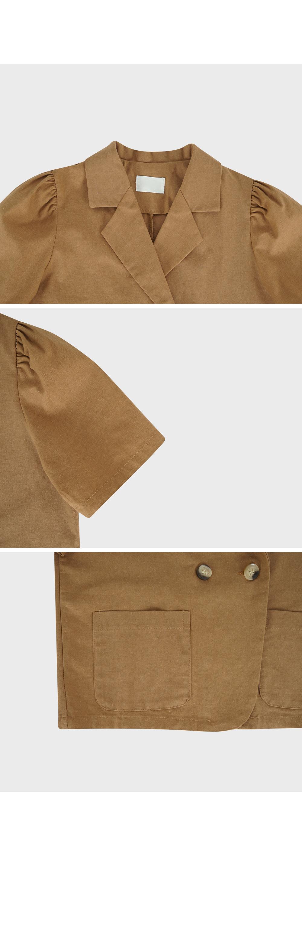 Short Sleeve Cropped Jacket-holiholic.com