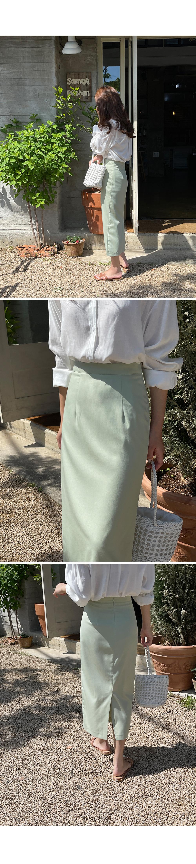 Summer Tencel Midi Skirt- Holiholic