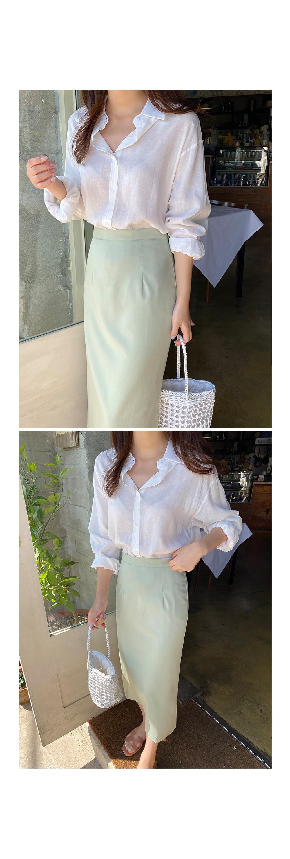 Long Sleeve Cotton Linen Shirt- Holiholic