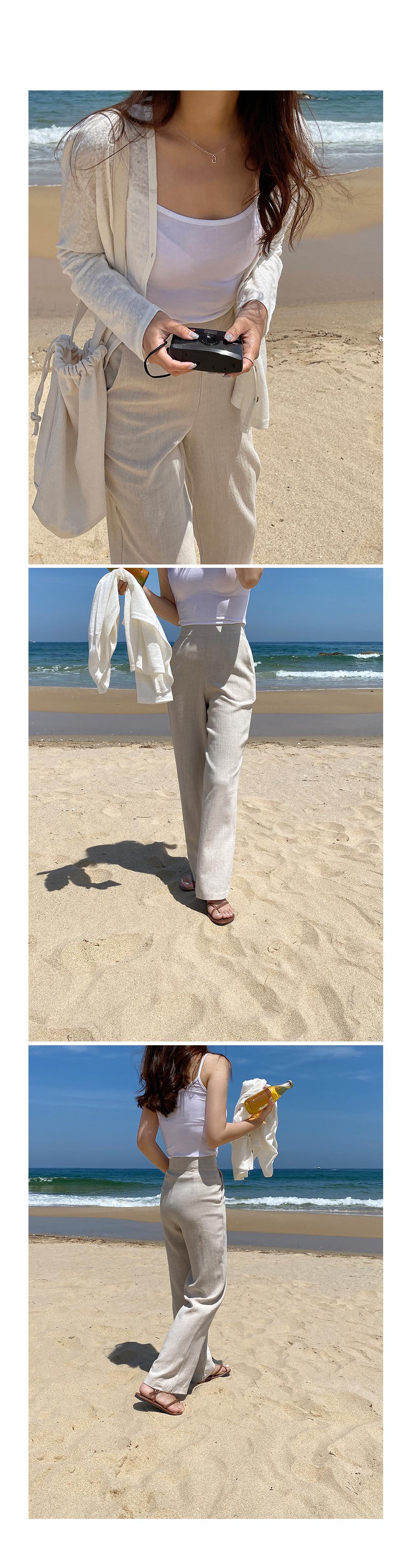 Linen Straight Cut Pants- Holiholic