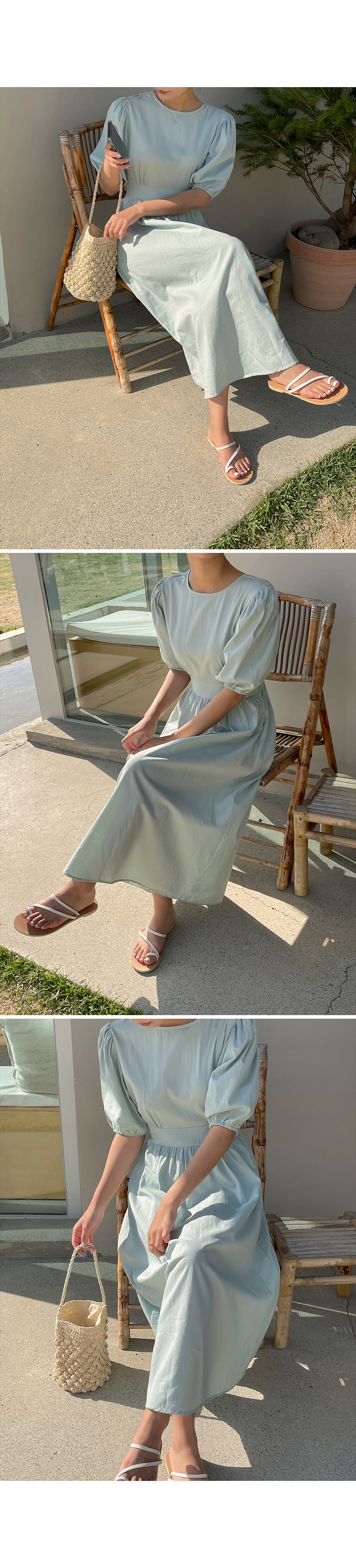 Back Cut Out Dress Midi Dress-Holiholic