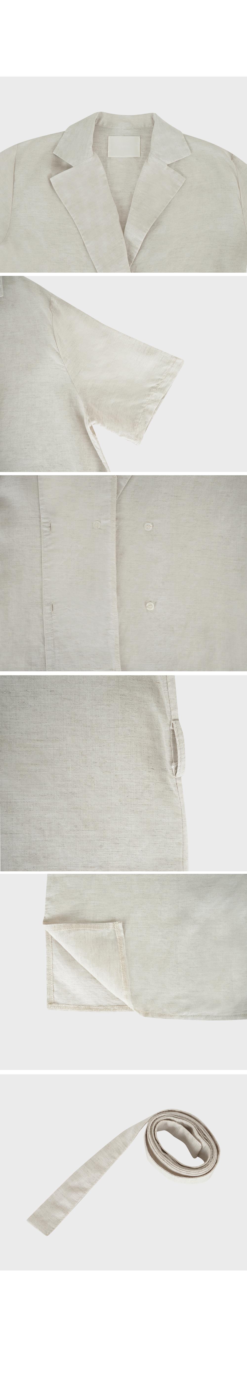 Linen Wrap Blouse Jacket- Holiholic