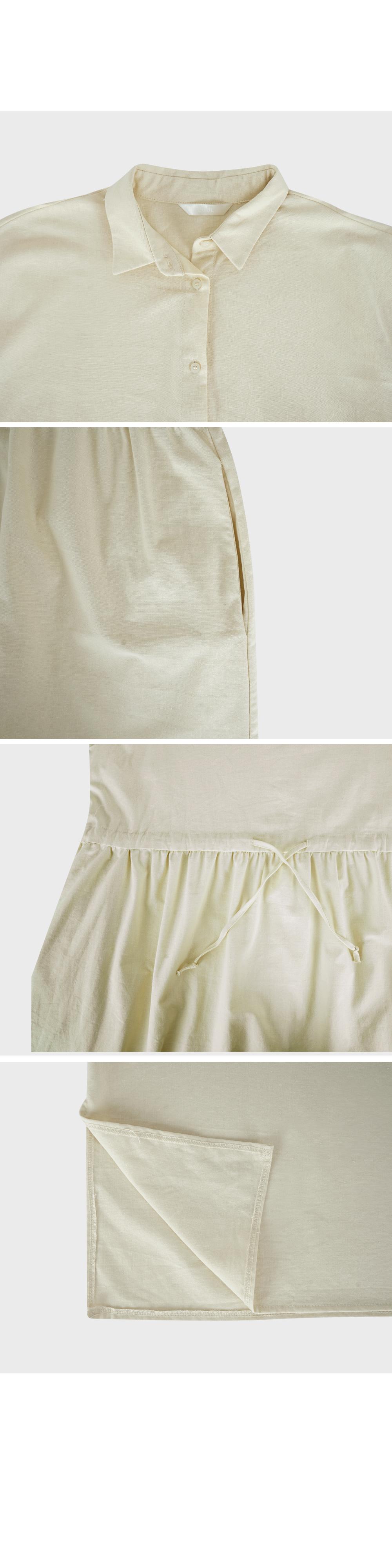 A-Line Button Front Dress-Holiholic
