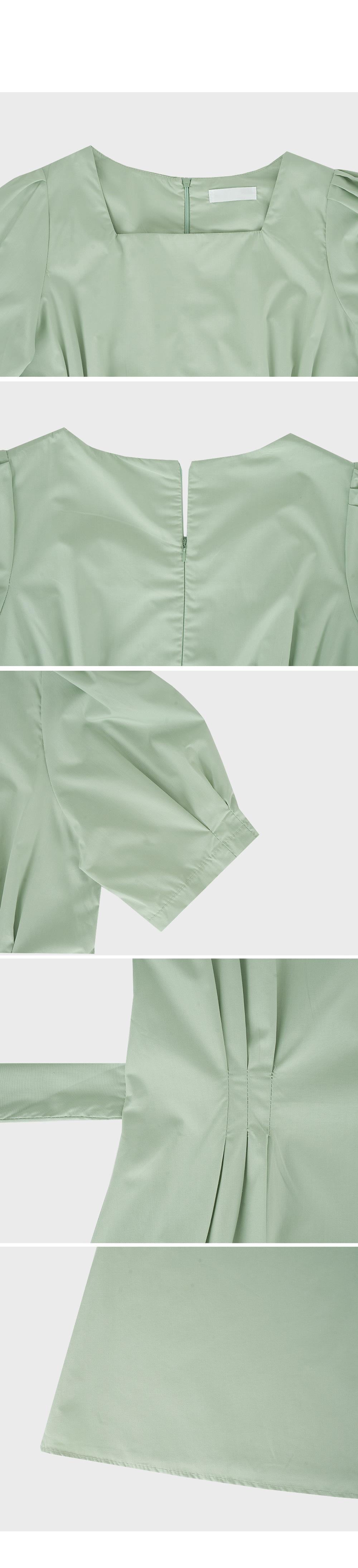 Square Neck Puff Sleeve Dress-Holiholic