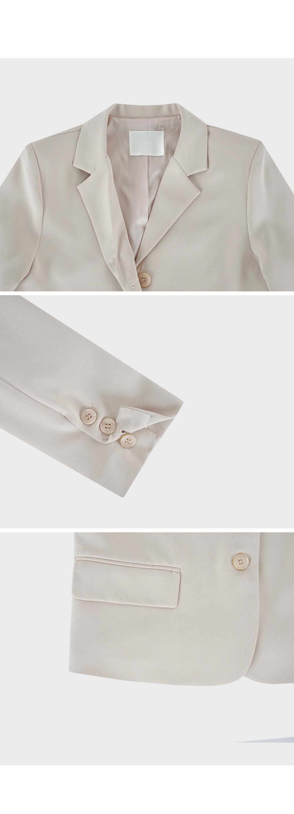 Semi Cropped Single Blazer-Holiholic